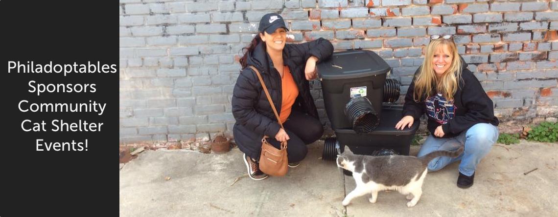 Philadoptables Sponsors Community Cat Shelter Events