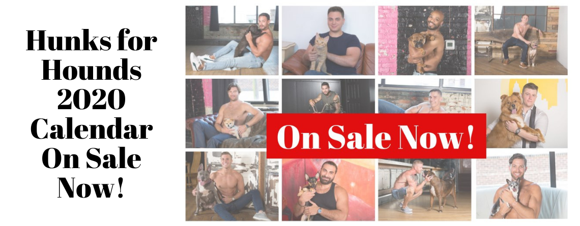 2020 Hunks for Hounds Calendar ON SALE NOW!